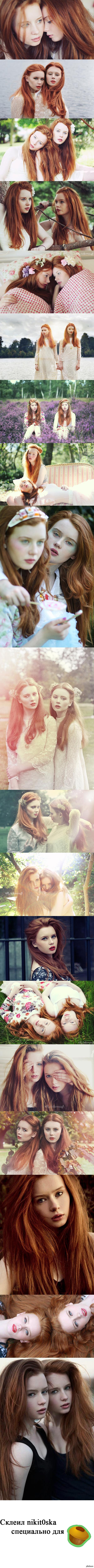 Всем двойного рыжего счастья! Kate & Rachel Roddy  Рыжая, девушки, длиннопост, красивая девушка