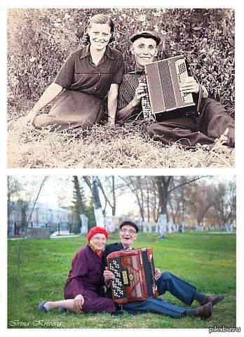 Фотографии с разницей в 57 лет   Фото, жизнь, время летит