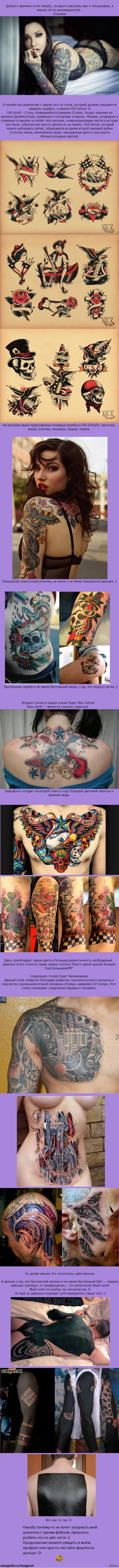 Длиннопост о разновидностях тату Часть 1 Небольшой список разных стилей тату   Честно, не ради кармы разбил пост на две части, пикабу не хотел грузить полную пикчу, пришлось разделить  тату, татуировки, длиннопост, незнаюставитьклубникуилинет