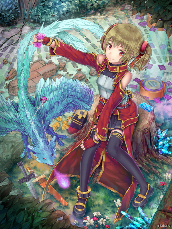 Anime Art №91   Anime, Art, Аниме, Арт, Рисунок, SAO, Silica, Sword Art Online