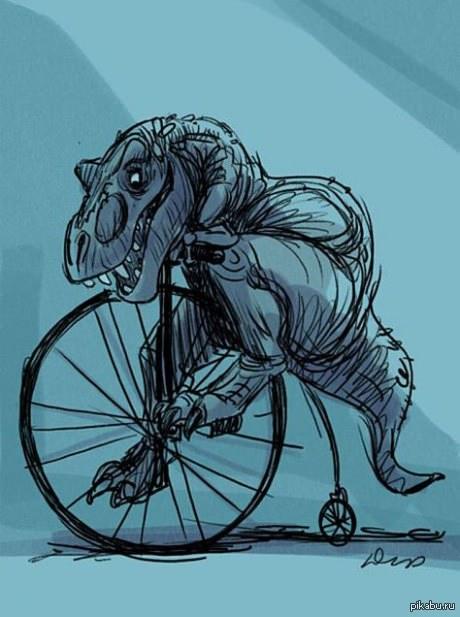 T-Rex   рисунок, креатив