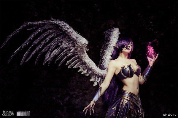 Моргана, падший ангел. Она любит готовить печеньки.  Моргана, Morgana, Лига Легенд, League of Legend, Ноксус, Косплей