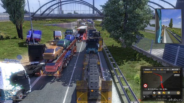 Поиграй в Euro Truck Online говорили они, это весело. Симулятор пробок.  euro truck simulator, Online, пробки, симулятор