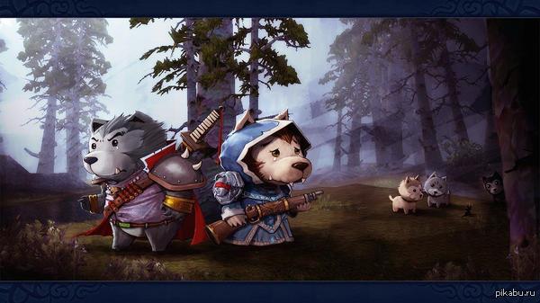 Просто милый арт не моё  World of Warcraft, wow, ворген, альянс, Игры