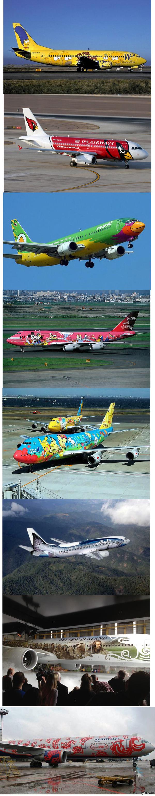 Самая необычная покраска самолетов   самолеты, небо, покраска, длиннопост