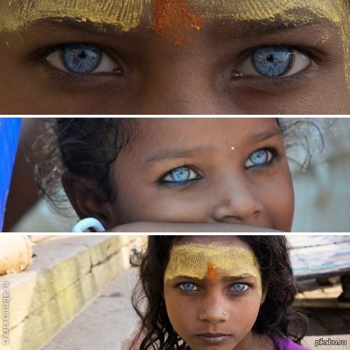 Модель с сапфировыми глазами