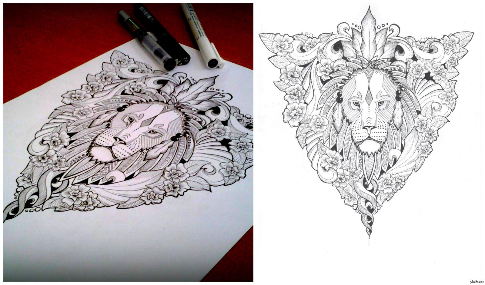 как сделать рисунок для тату