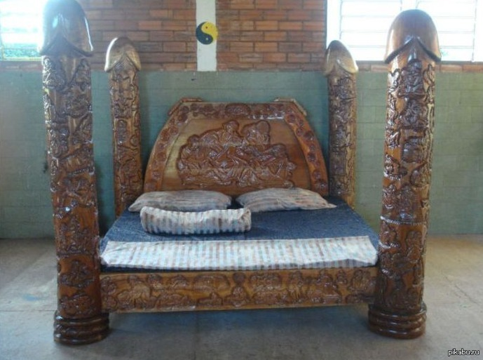 Самодельная кровать из дерева своими руками