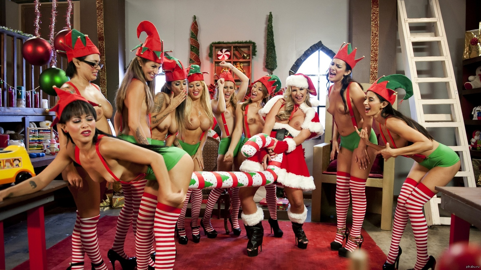 Santa and elves henita pic sex download